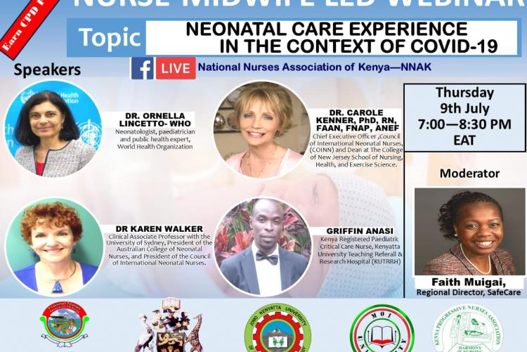 Nursing webinar: Neonatal care experience in the context of COVID-19 poster.